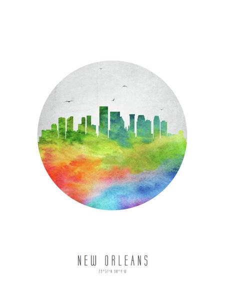 Wall Art - Digital Art - New Orleans Skyline Uslano20 by Aged Pixel