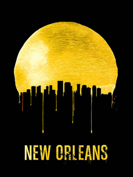 Wall Art - Painting - New Orleans Skyline Yellow by Naxart Studio
