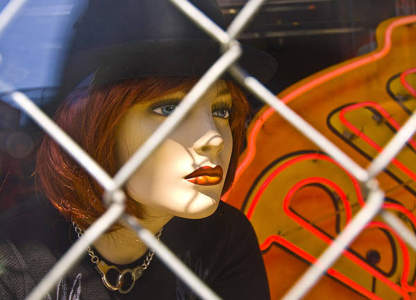 Chain Link Photograph - New Orleans Stare by Robert Ponzoni