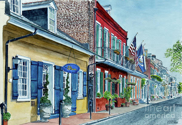 Wall Art - Painting - New Orleans, Street Scene, Pierre Hotel by Anthony Butera