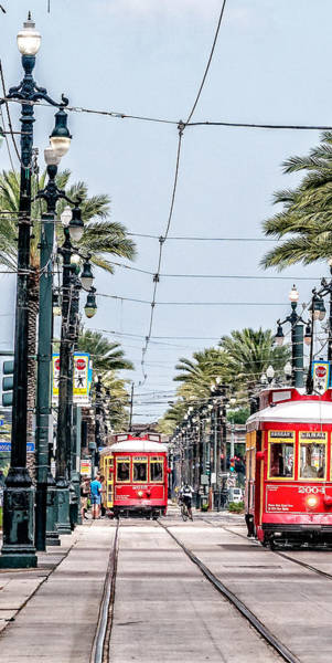 Photograph - New Orleans Streetcars Triptych 3 by Andy Crawford