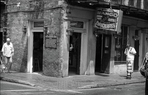 Photograph - New Orleans Tavern 2004 Bw by Frank Romeo