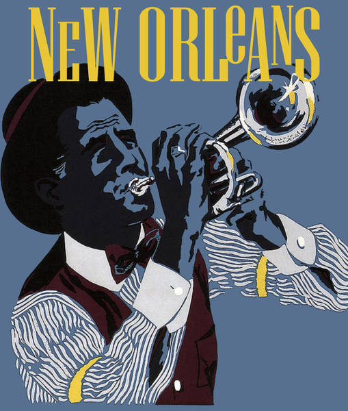 Trumpeter Painting - New Orleans, Trumpeter by Long Shot