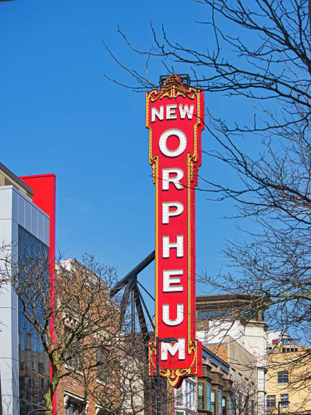 Photograph - New Orpheum Sign Madison Wisconsin  by Steven Ralser