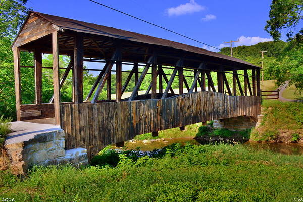 Photograph - New Paris/coppetts Covered Bridge by Lisa Wooten