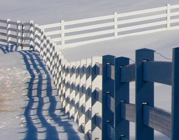 Photograph - New Pond Farm's Fence Jazz by Polly Castor