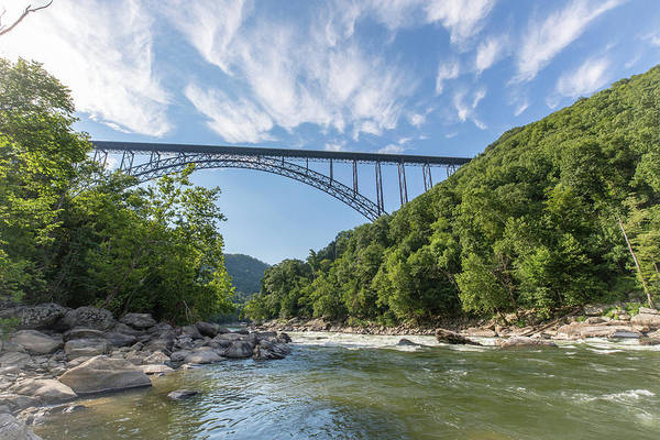 Photograph - New River Gorge Bridge Over The New River by M C Hood