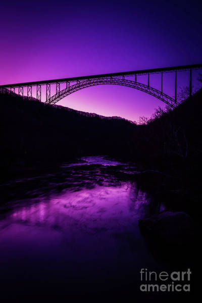 Photograph - New River Gorge Bridge Afterglow by Thomas R Fletcher