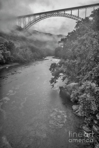 Photograph - New River Gorge Bridge In Rain by Thomas R Fletcher