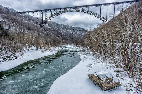Photograph - New River Gorge Bridge Snow by Thomas R Fletcher