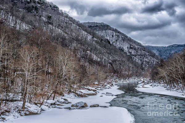 Photograph - New River Gorge Winter Clouds by Thomas R Fletcher