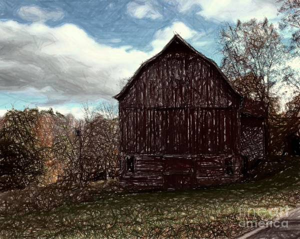 Photograph - New Road Barn by Donna Cavanaugh