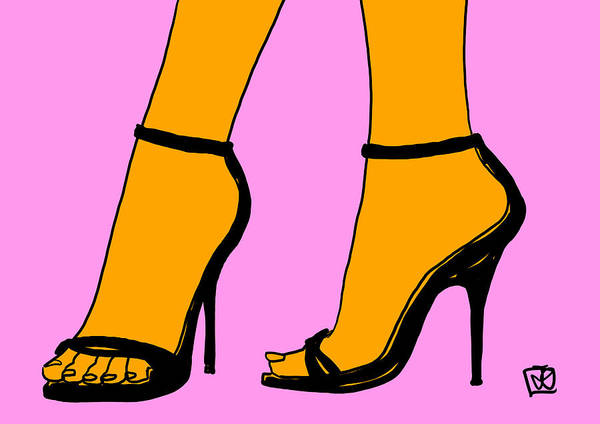 Heels Wall Art - Drawing - New Shoes by Giuseppe Cristiano