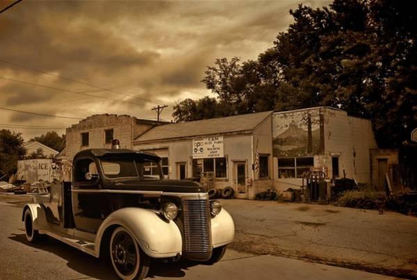 New Shop Tow Truck Art Print
