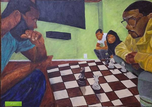 Painting - A Game Of Chess by Jerel Ferguson
