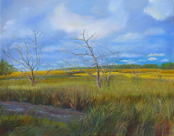Jekyll Island Painting - Oyster Creek by Pauline Whitehurst