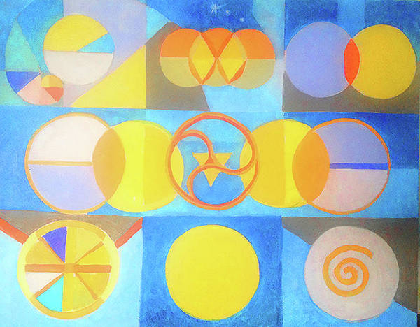 Painting - Geometrica 1 by Suzanne Cerny