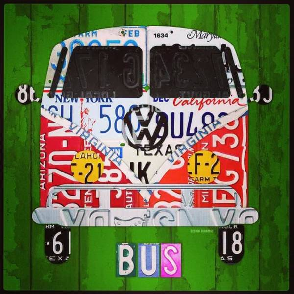 Wall Art - Photograph - New #vw License Plate Art Series Out On by Design Turnpike