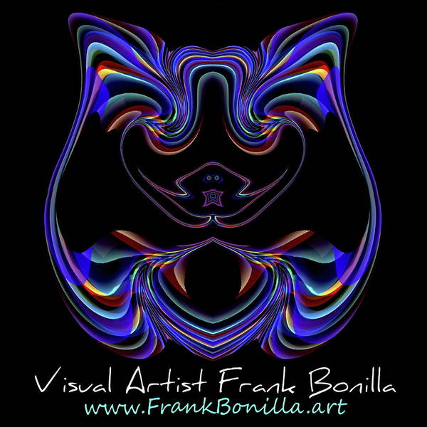 Digital Art - New Website Extension, Updated Logo by Visual Artist Frank Bonilla