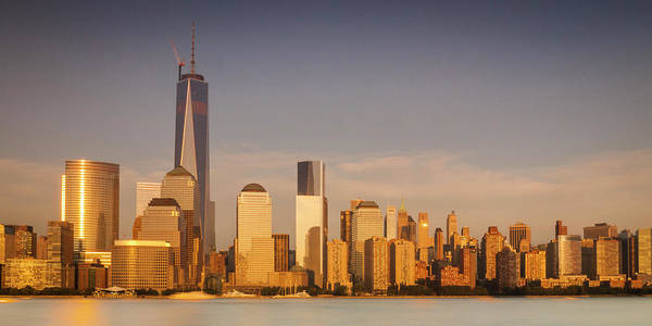 Art Print featuring the photograph New World Trade Memorial Center And New York City Skyline Panorama by Ranjay Mitra
