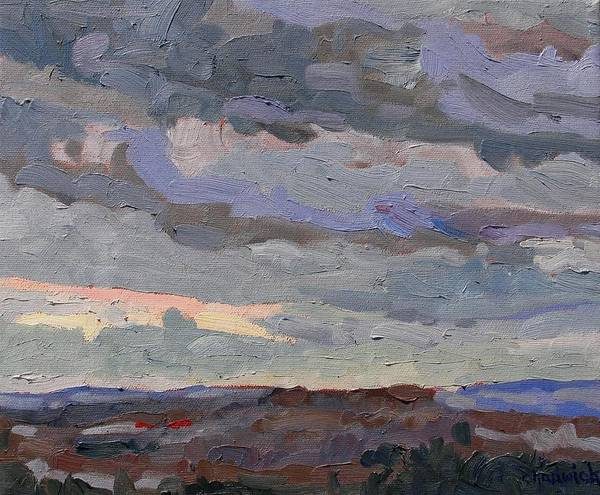 Watershed Painting - New Year Stratocumulus by Phil Chadwick