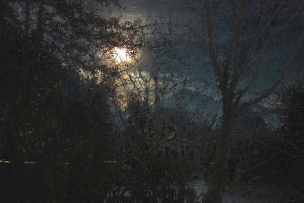 Photograph - New Year's Moonlit River by Belinda Greb