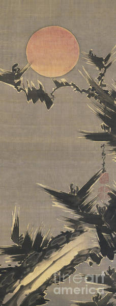 Wall Art - Painting - New Year's Sun, 1800 by Ito Jakuchu