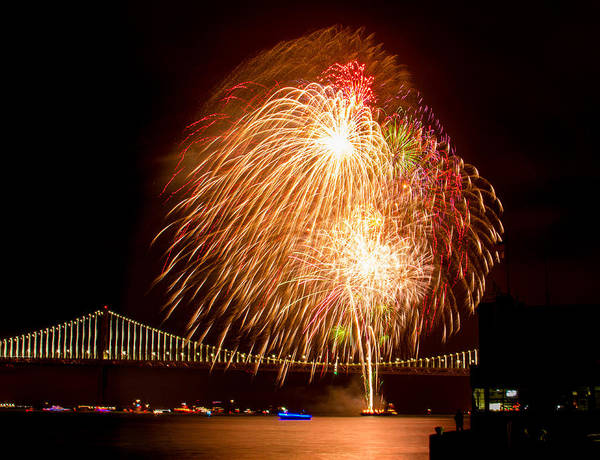 Photograph - New Years Welcome Fireworks by Bonnie Follett