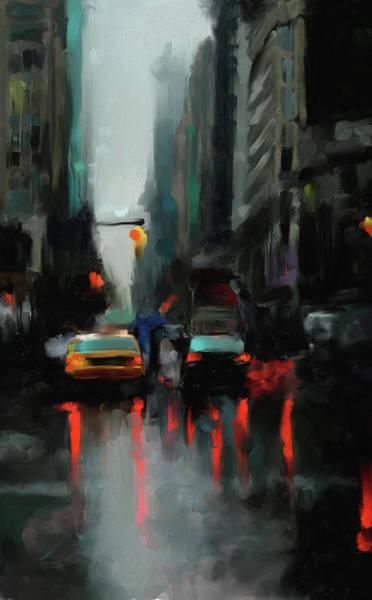 Chinatown Painting - New York 1 560 1 by Mawra Tahreem