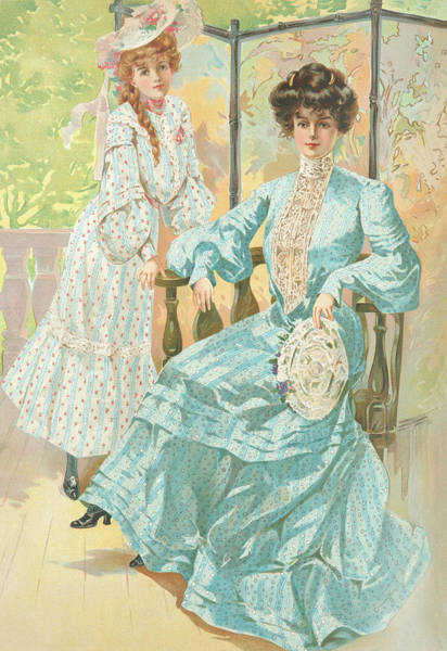 Wall Art - Drawing - New York 1904 Fashion Art 2 by Movie Poster Prints