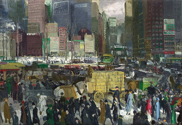 Narrow Street Painting - New York 1911 by George Bellows
