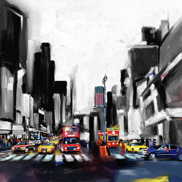 Wall Art - Painting - New York 653 1 by Mawra Tahreem