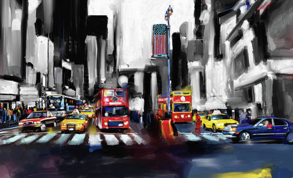 Wall Art - Painting - New York 653 2 by Mawra Tahreem