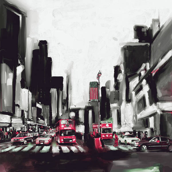 Wall Art - Painting - New York 653 3 by Mawra Tahreem
