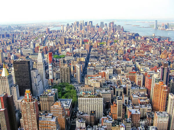 Photograph - New York Aerial View by Benny Marty