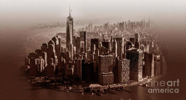 Manhattan Skyline Painting - New York Architecture 1 by Gull G