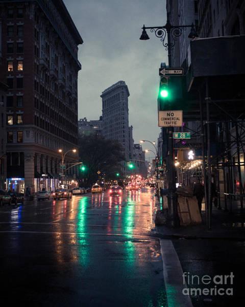 Wall Art - Photograph - New York At Night Flatiron by John Farnan