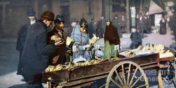 Photograph - New York: Banana Cart by Granger