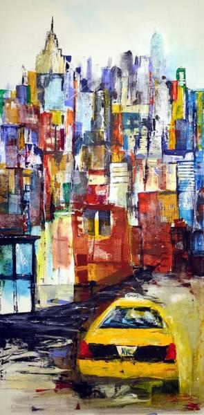 Painting - New York Cab by Jack Diamond