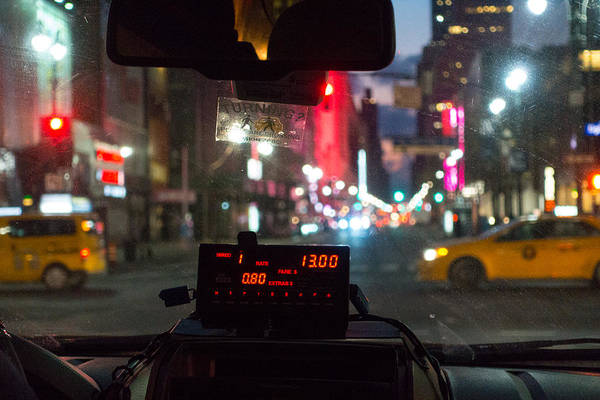 Photograph - New York Cab Ride by SR Green