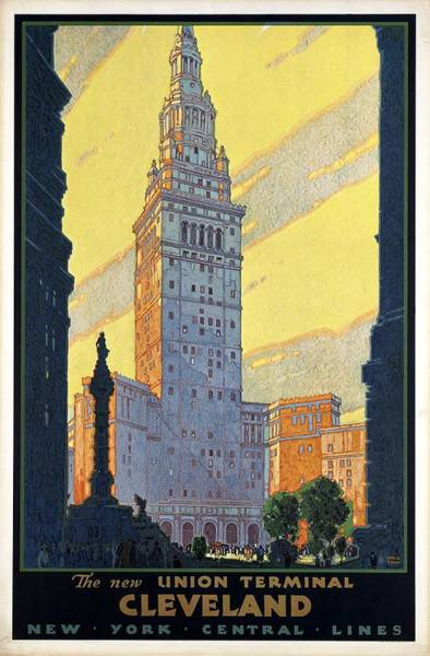 Wall Art - Mixed Media - New York Central Lines - Cleveland, Ohio - Retro Travel Poster - Vintage Poster by Studio Grafiikka