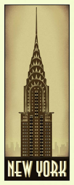 Wall Art - Digital Art - New York Chrysler Building by Steve Forney