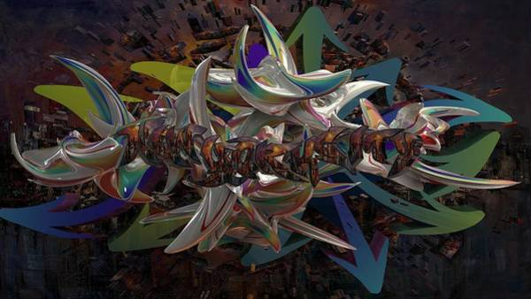 Wall Art - Digital Art - New York Cities Within A City  by Louis Ferreira