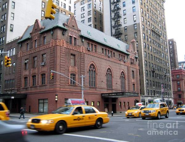 Photograph - New York City Yellow Cab  - Amsterdam -  West Seventy Sixth by Susan Carella