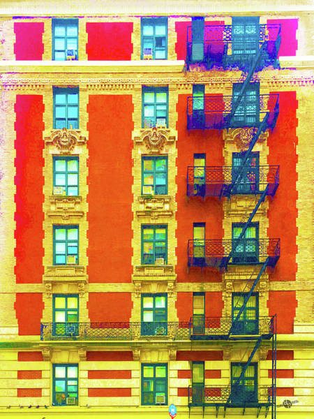 Mixed Media - New York City Apartment Building 3 by Tony Rubino