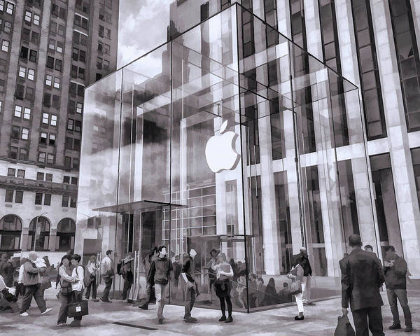 Painting - New York City Apple Store by Christopher Arndt