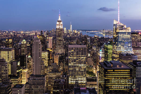 Photograph - New York City At Night by Didier Marti