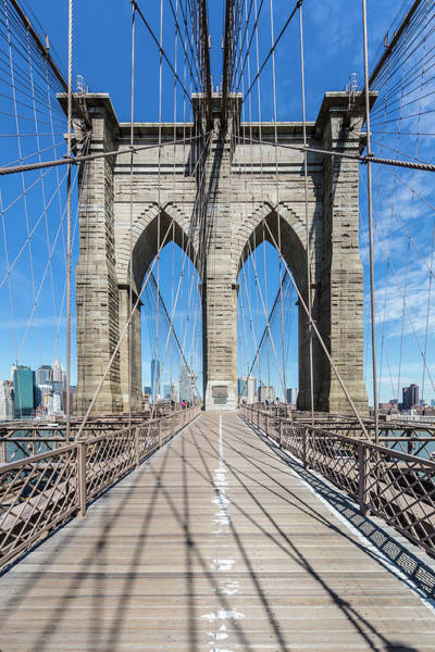 Wall Art - Photograph - New York City Brooklyn Bridge And Cable Construction by Melanie Viola