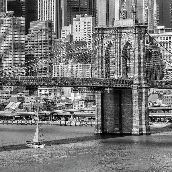 Wall Art - Photograph - New York City Brooklyn Bridge And East River by Melanie Viola
