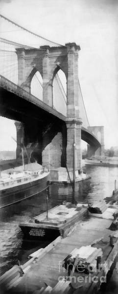 Painting - New York City Brooklyn Bridge by Edward Fielding